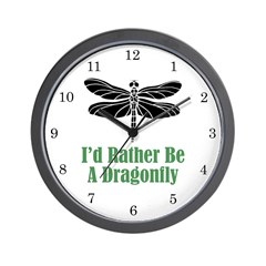 Rather Be A Dragonfly Wall Clock (w/numbers)