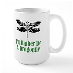 Rather Be A Dragonfly Large Mug