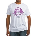 Ladybug Stamp Fitted T-Shirt