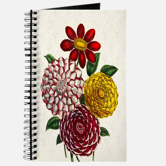 Dahlia Flowers Journal