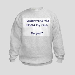 Infield Fly Rule Kids Sweatshirt