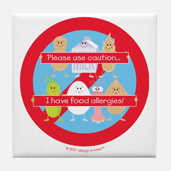 Funny Allergic to nuts Tile Coaster