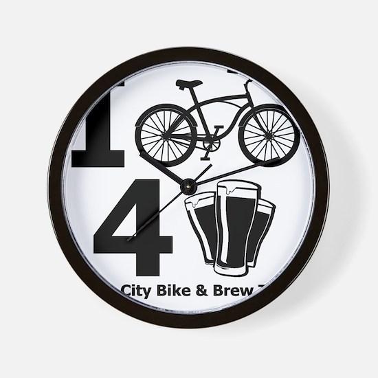 I Bike 4 Beer Wall Clock