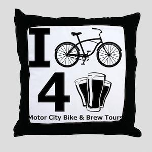 I Bike 4 Beer Throw Pillow