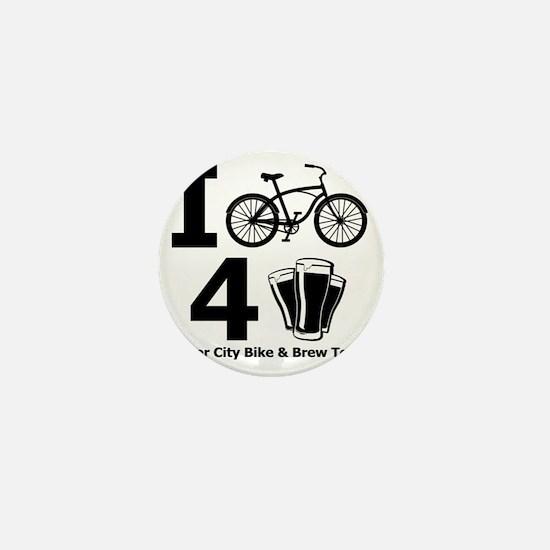 I Bike 4 Beer Mini Button