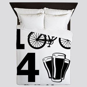 I Bike 4 Beer Queen Duvet