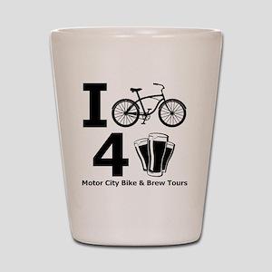 I Bike 4 Beer Shot Glass