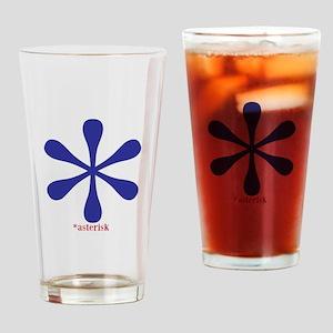 Asterisk Drinking Glass