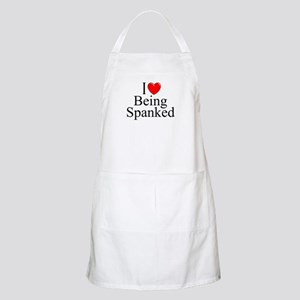 """I Love (Heart) Being Spanked"" BBQ Apron"