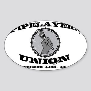 Pipelayers Union Sticker (Oval)