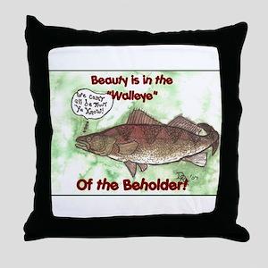 eye of the beholder Throw Pillow