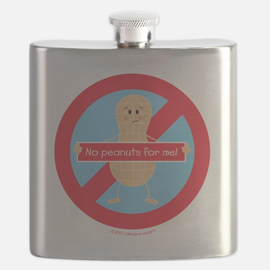 Funny Allergy awareness Flask