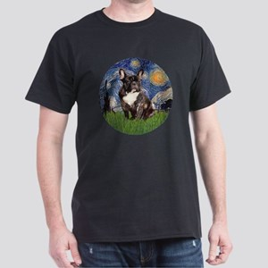Starry-Brindle French Bulldog Dark T-Shirt