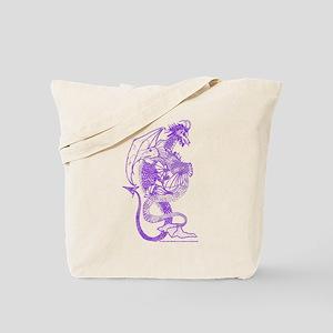Elemental Dragons Purple Tote Bag