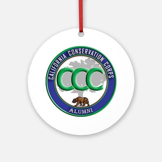 CCC Alumni logo blue/green Round Ornament