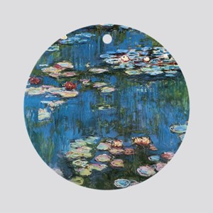 Waterlilies by Claude Monet, Vintag Round Ornament