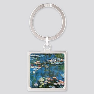 Waterlilies by Claude Monet, Vinta Square Keychain