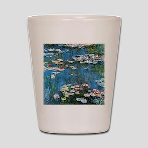 Waterlilies by Claude Monet, Vintage Im Shot Glass