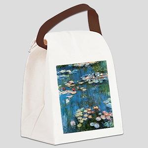 Waterlilies by Claude Monet, Vint Canvas Lunch Bag