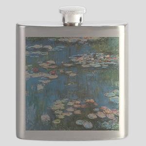 Waterlilies by Claude Monet, Vintage Impress Flask