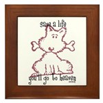 dog & bone Framed Tile