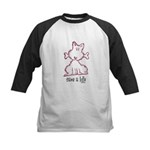 dog & bone Kids Baseball Jersey