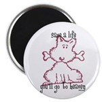"dog & bone 2.25"" Magnet (100 pack)"