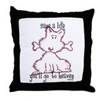 dog & bone Throw Pillow