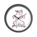 dog & bone Wall Clock