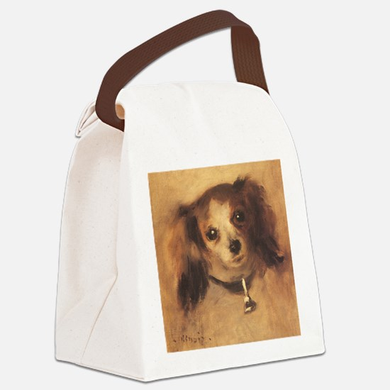 Head of a Dog by Renoir, Vintage  Canvas Lunch Bag