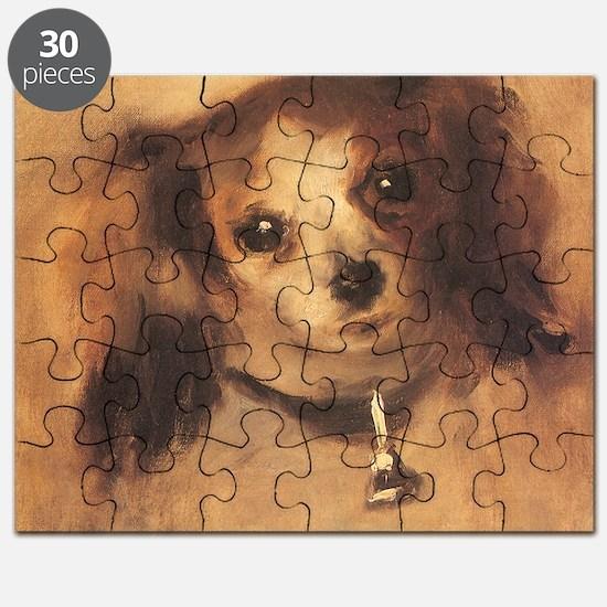 Head of a Dog by Renoir, Vintage Impression Puzzle