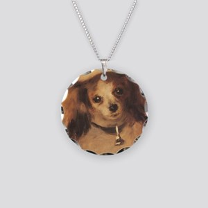 Head of a Dog by Renoir, Vin Necklace Circle Charm