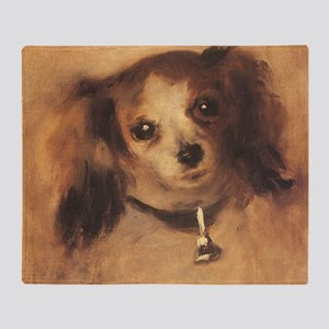 Head of a Dog by Renoir, Vintage Imp Throw Blanket
