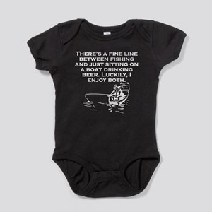 Fishing And Sitting In A Boat Baby Bodysuit
