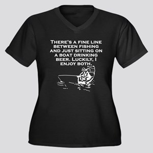 Fishing And Sitting In A Boat Plus Size T-Shirt