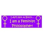 Feminist Philosopher Bumper Sticker