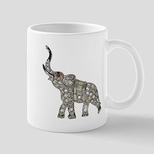 Vintage Rhinestone Elephant Mugs