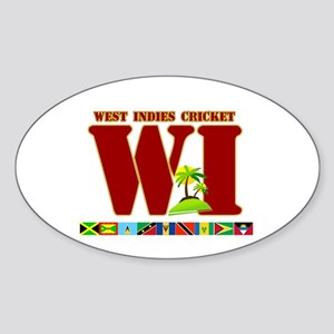 West Indies Cricket Oval Sticker