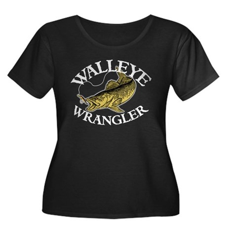 Walleye Wrangler Women's Plus Size Scoop Neck Dark