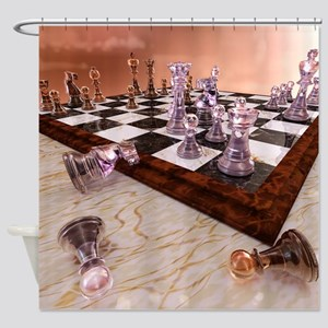 A Game of Chess Shower Curtain