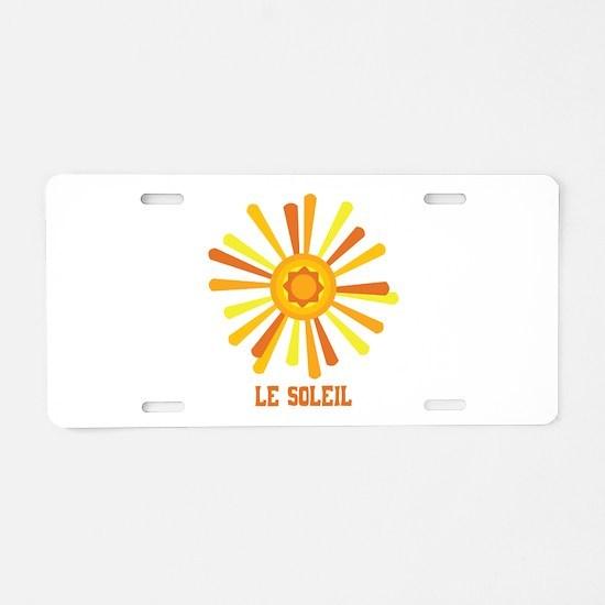 Le Soleil Aluminum License Plate