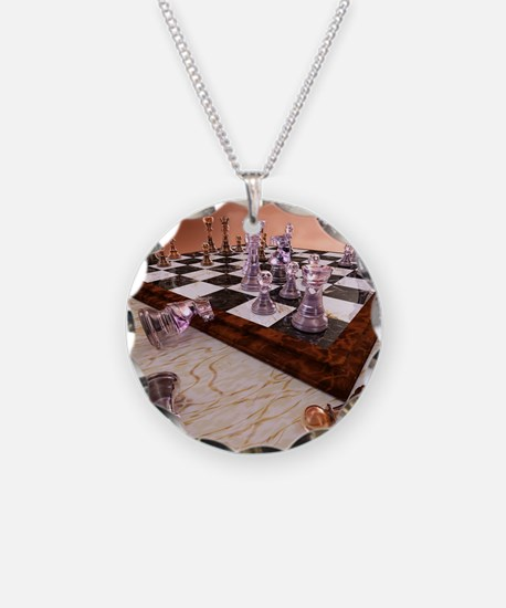 A Game of Chess Necklace