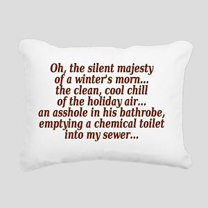 Winters Morn Majesty Rectangular Canvas Pillow