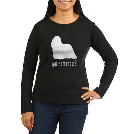 Komondor Women's Long Sleeve Dark T-Shirt