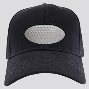 Golf Ball Sport Black Cap with Patch