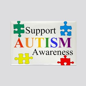 4-3-support autism awareness-puzzle Magnets