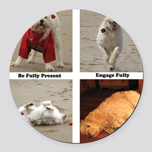 Dog Lessons for People Round Car Magnet