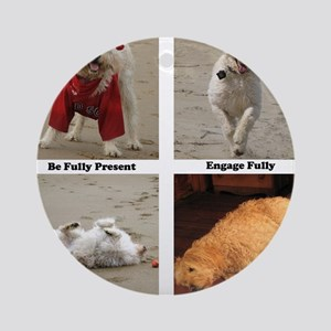 Dog Lessons for People Round Ornament