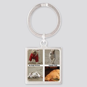 Dog Lessons for People Square Keychain