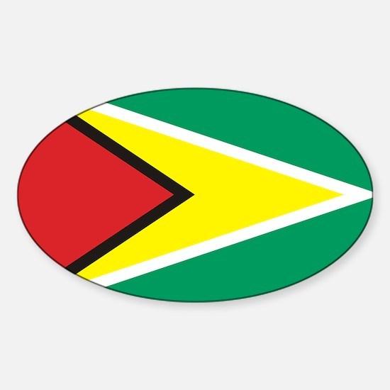 Flag of Guyana Oval Decal